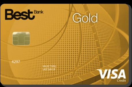 Cartão de crédito amarelo Best Gold Visa