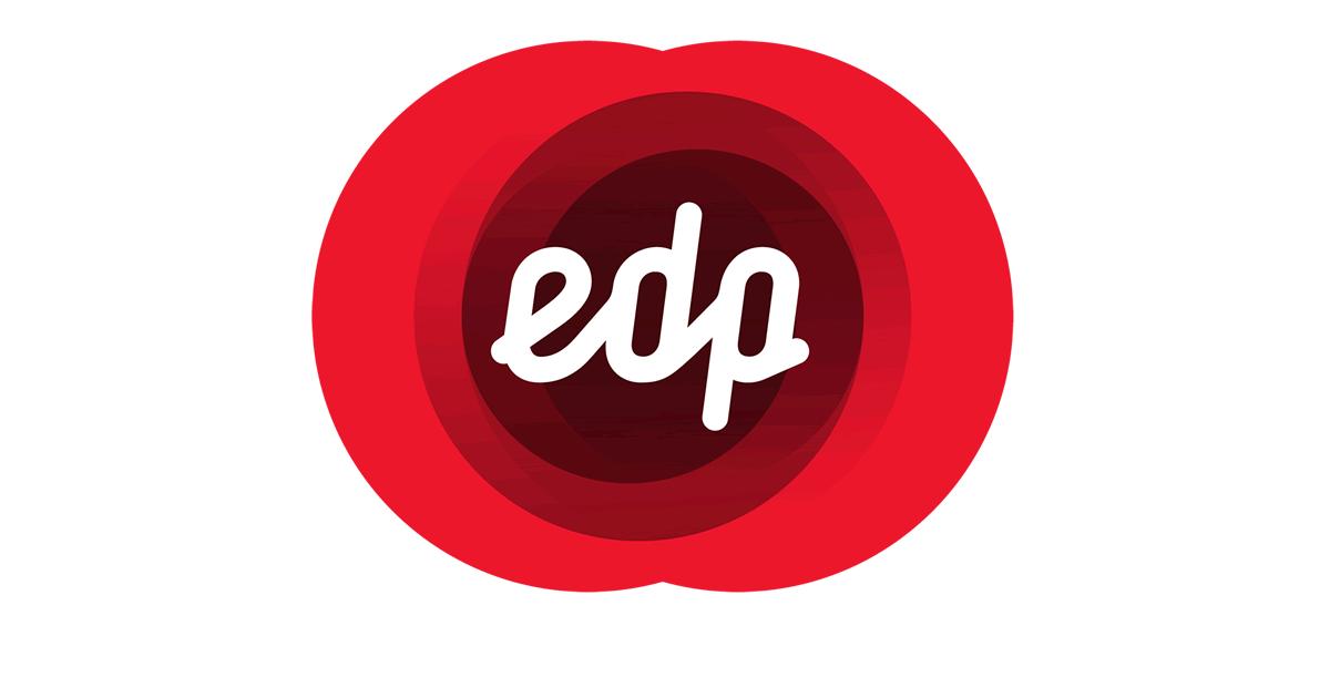 Logo EDP letras brancas