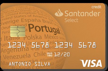 Cartão de crédito cor laranja Gold Select Santander