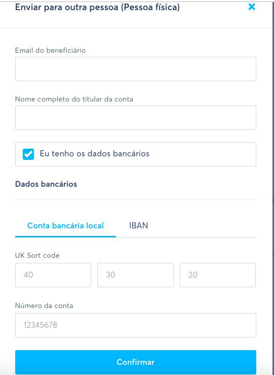 Como usar o Transferwise para fazer transferências