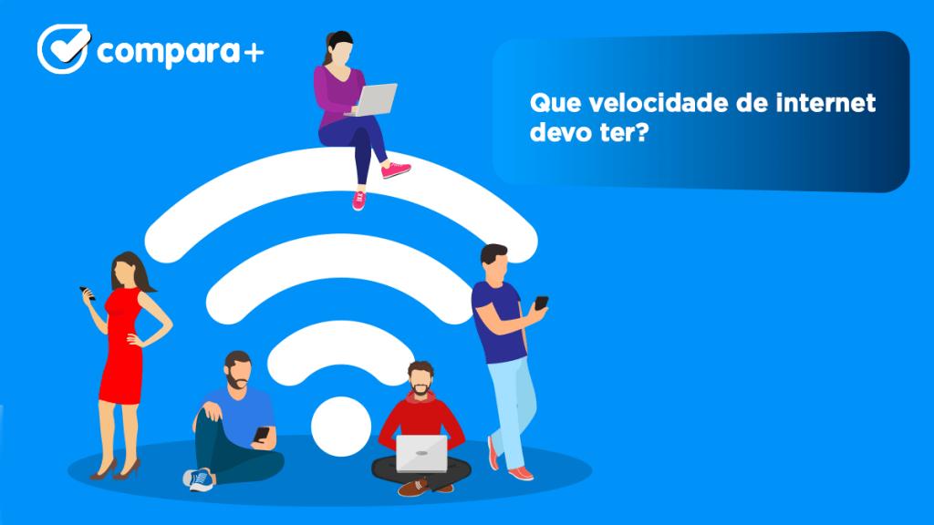 velocidade de internet para jogar online, para streaming e videoconferências