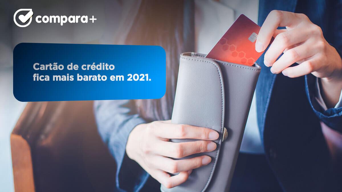 Taxas de juro descem no cartão de crédito em 2021